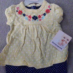 Buster Brown Polka Dot Floral Dress